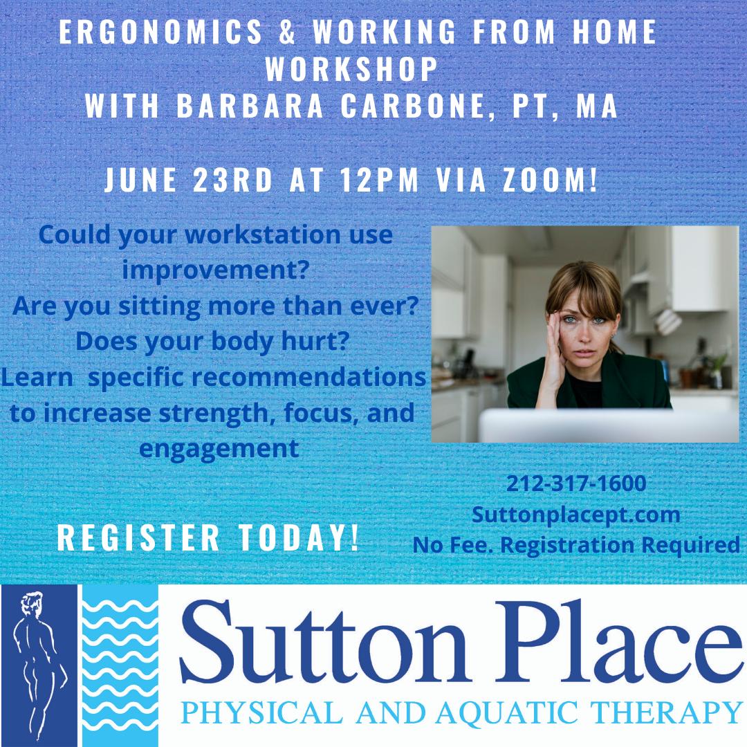 Ergonomics & Working From Home Workshop