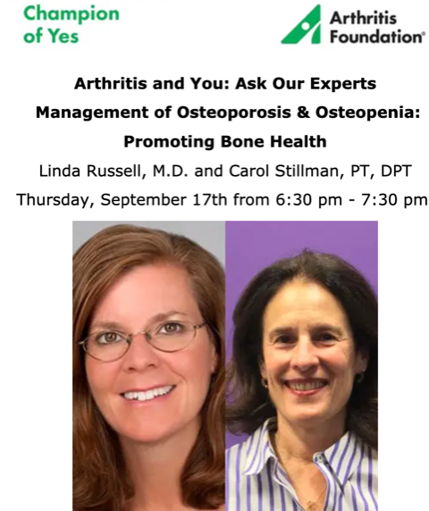 Arthritis & You Workshop